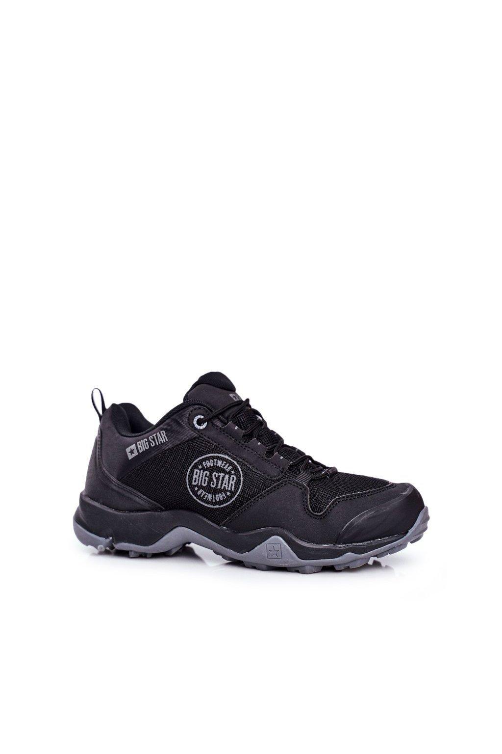 Pánske trekingové topánky farba čierna kód obuvi FF174303 BLK