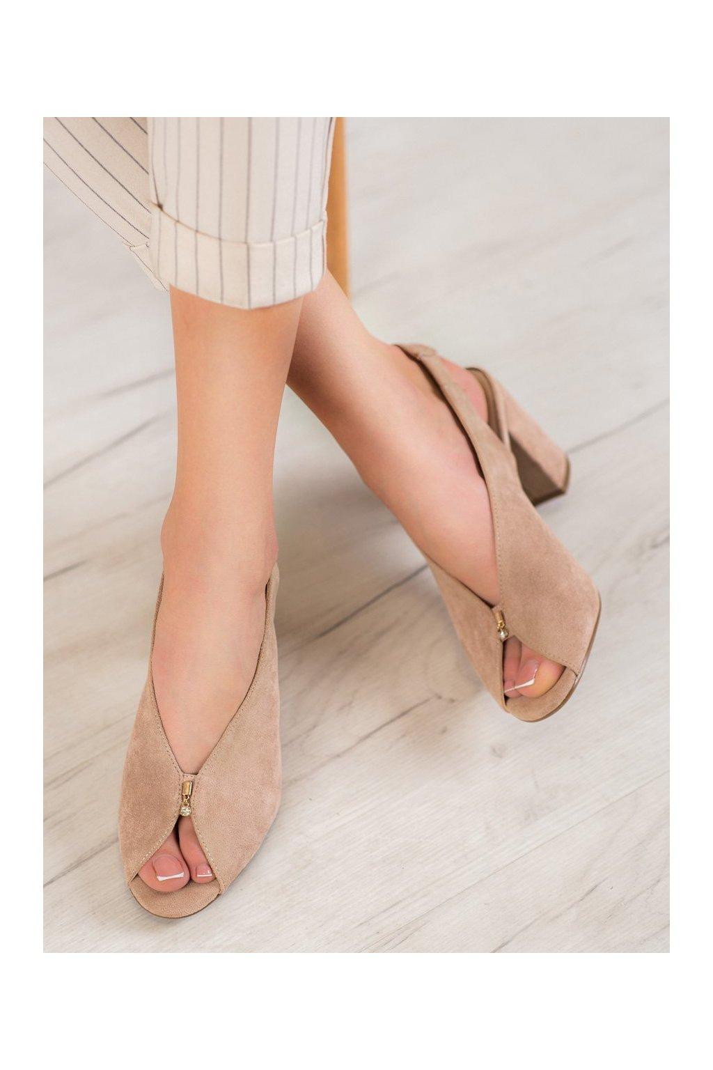 Hnedé sandále Vinceza kod XY20-10534BE