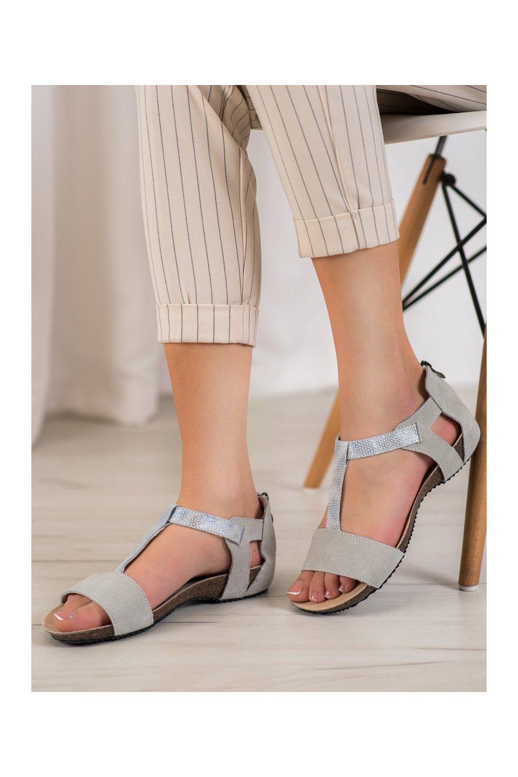 Sivé sandále Vinceza kod FT19-8662L.G