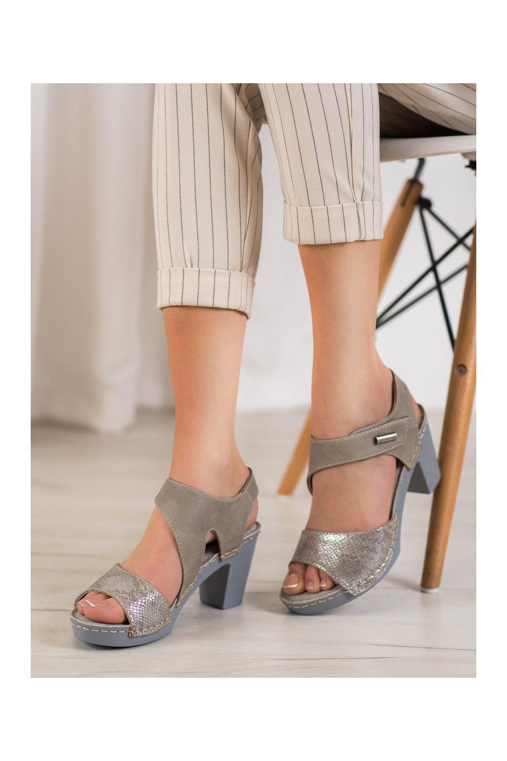 Sivé sandále Vinceza kod YQE19-17011G