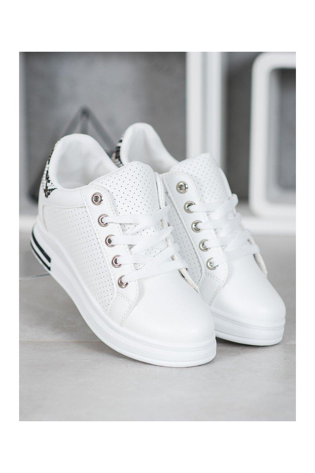 Biele tenisky Shelovet kod KS-1301W/SN