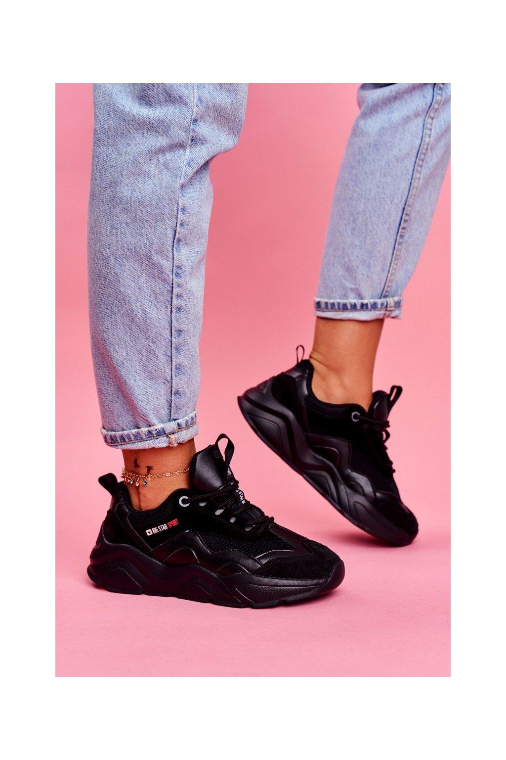 Dámske tenisky farba čierna kód obuvi FF274959 BLK