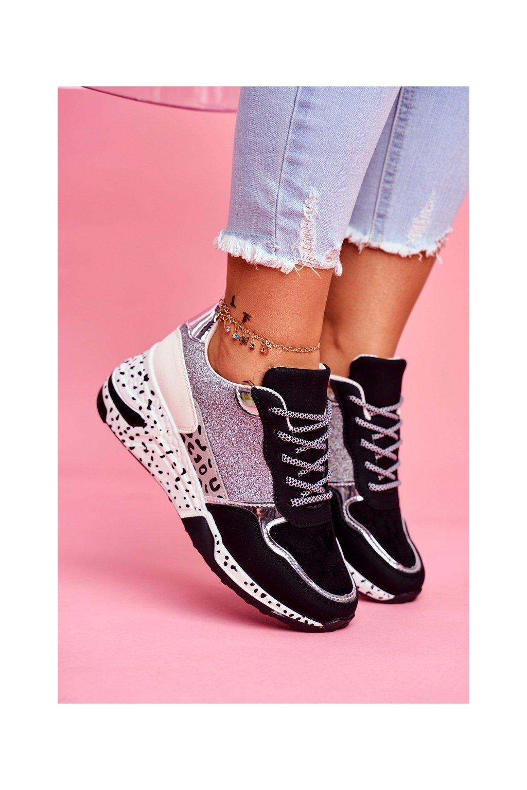Dámska športová obuv s hrubou Podrážkou Čierne Nokien