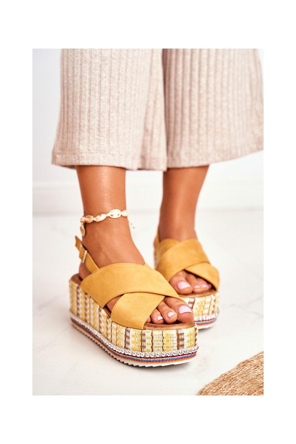Dámske sandále farba žltá kód obuvi 1311 YELLOW