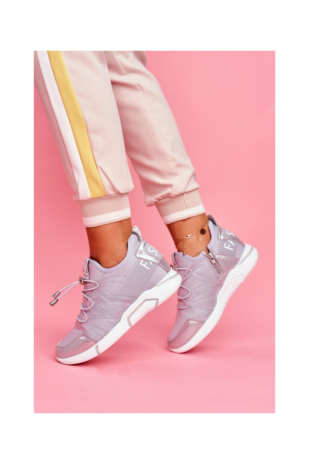 Dámska športová obuv so zipsom Šedá Terfin