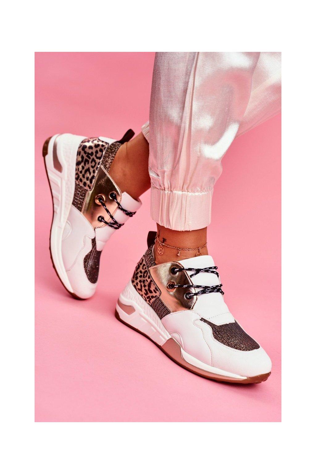 Dámska športová obuv biele zlato Sempre