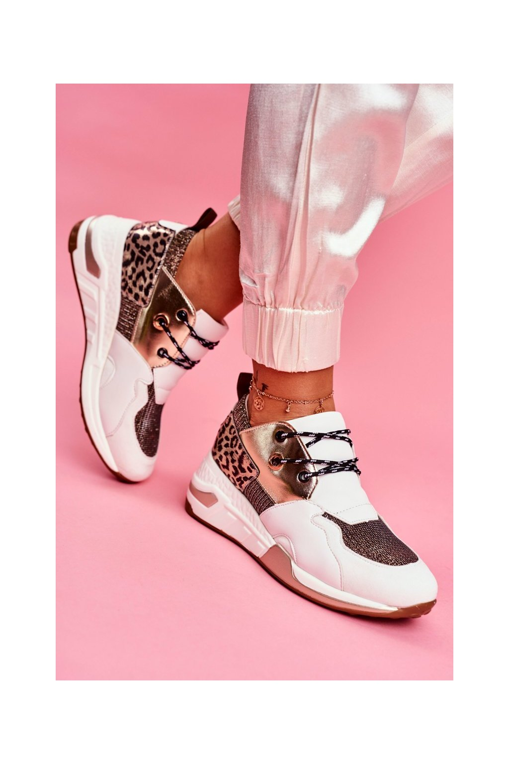 Dámske tenisky farba viacfarebná kód obuvi KP2353-OR GOLD