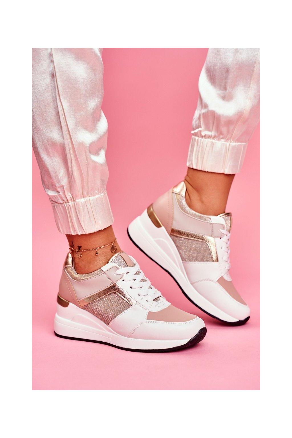 Dámska športová obuv Bílo-ružová Dillion