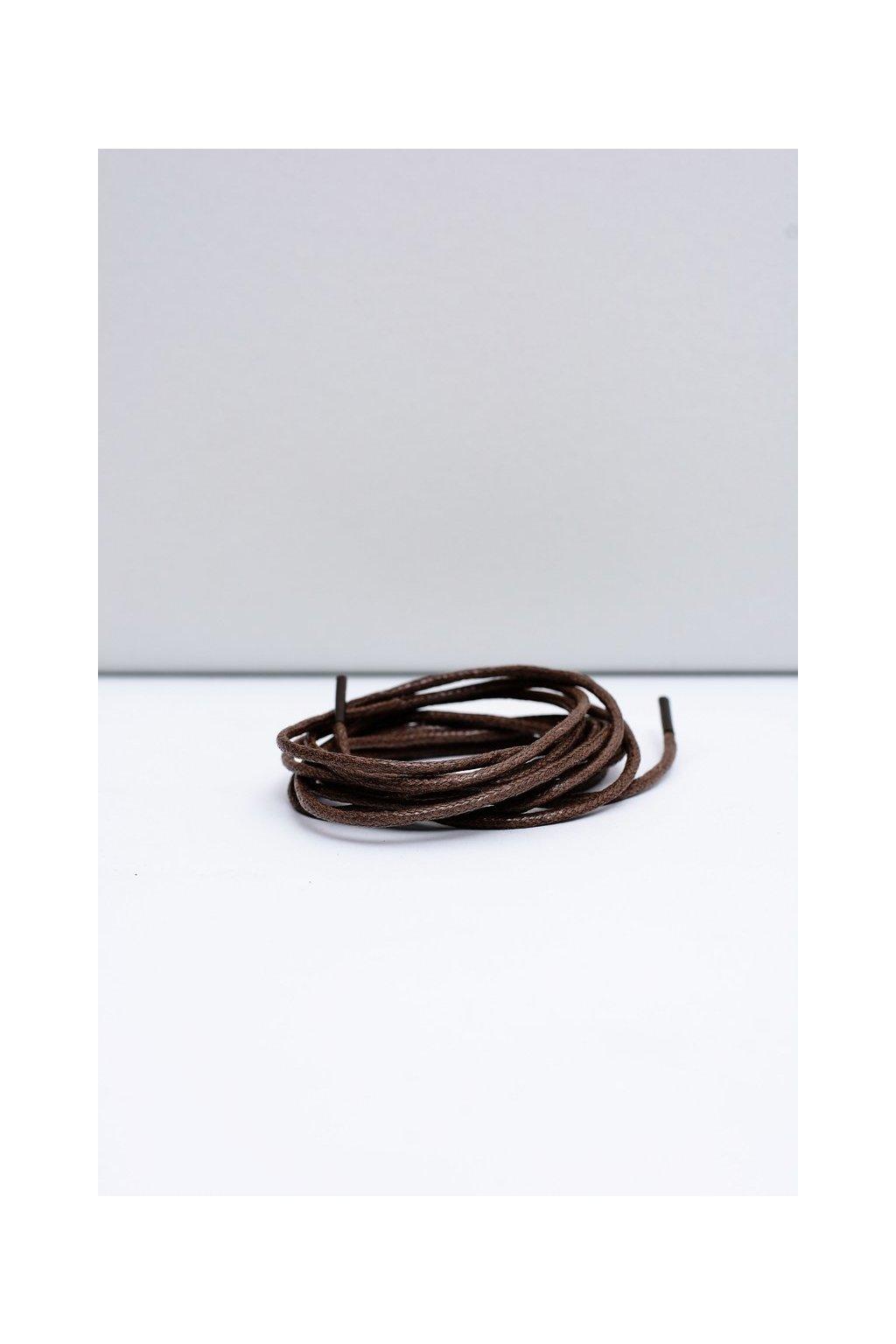 Šnúrky do topánok farba hnedá kód Okrągłe cienkie wosk ciemny brąz