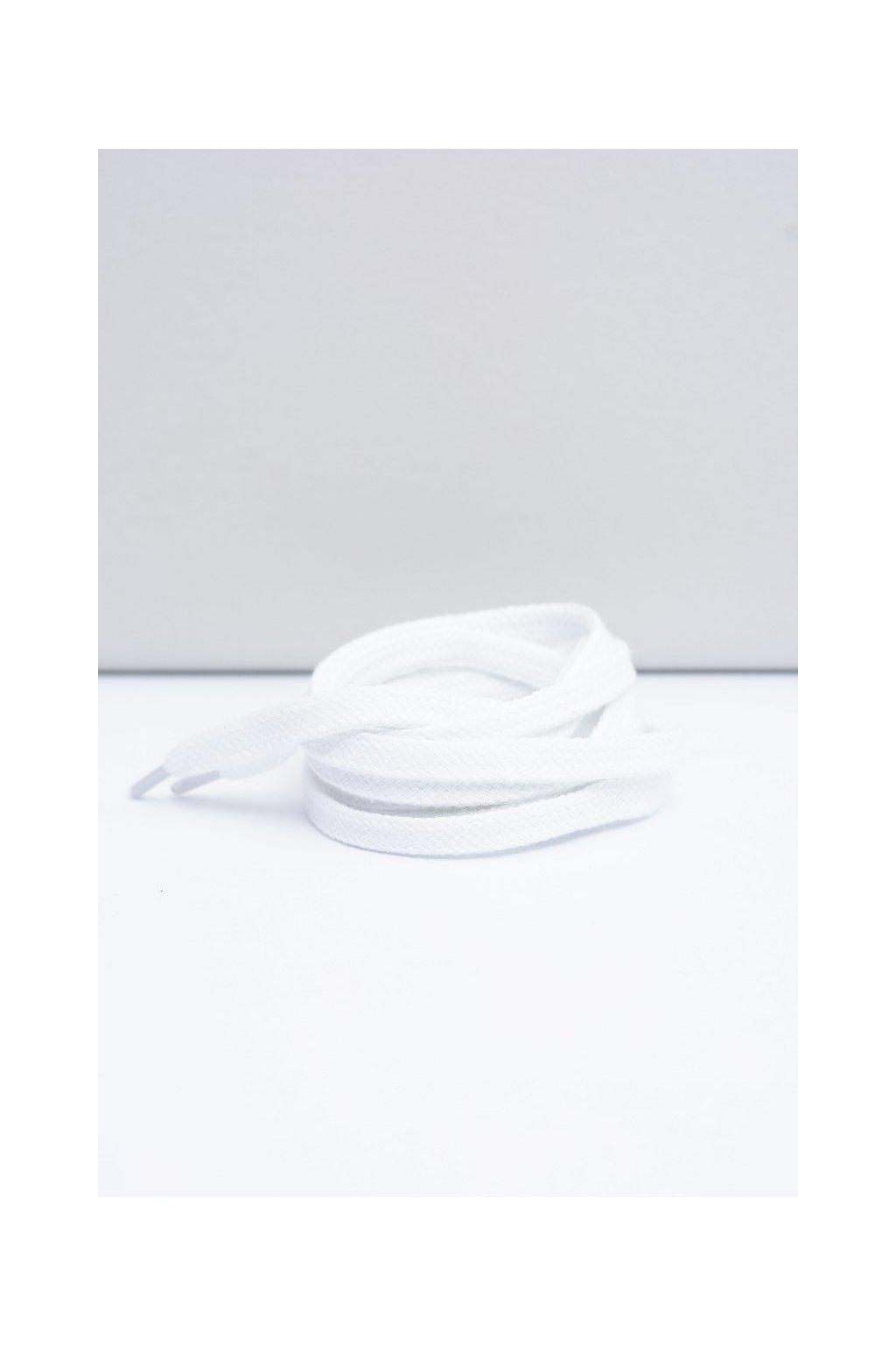Šnúrky do topánok farba biela kód Płaskie białe