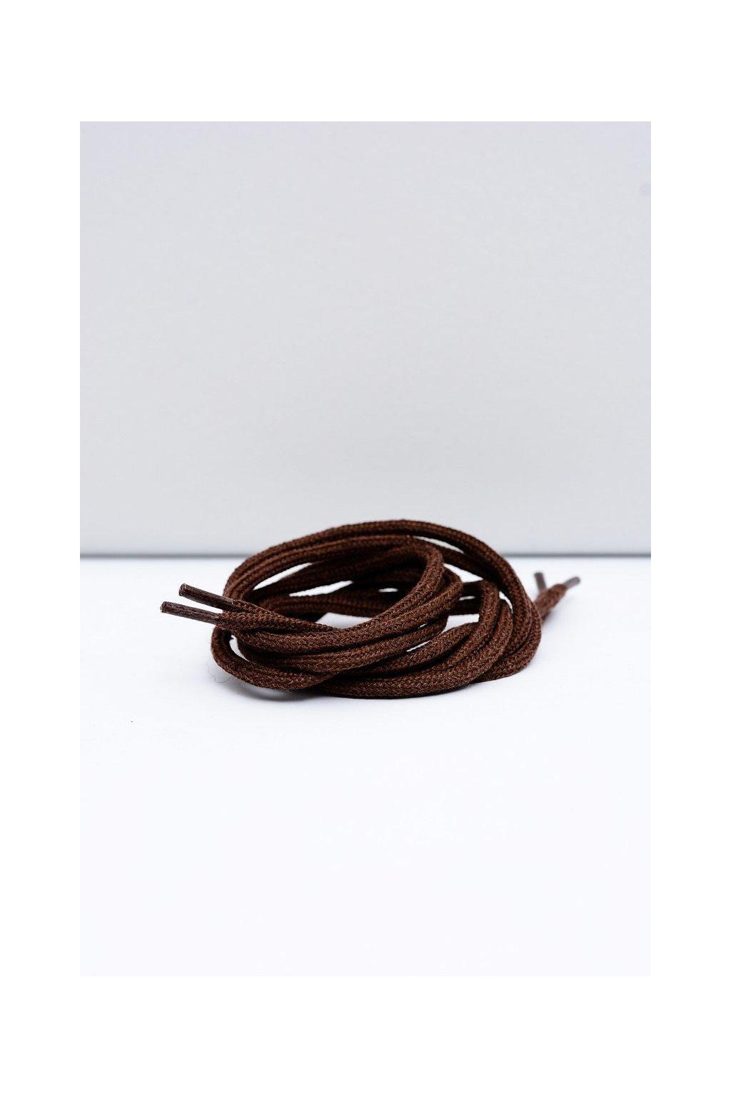 Šnúrky do topánok farba hnedá kód Okrągłe grube ciemny brąz