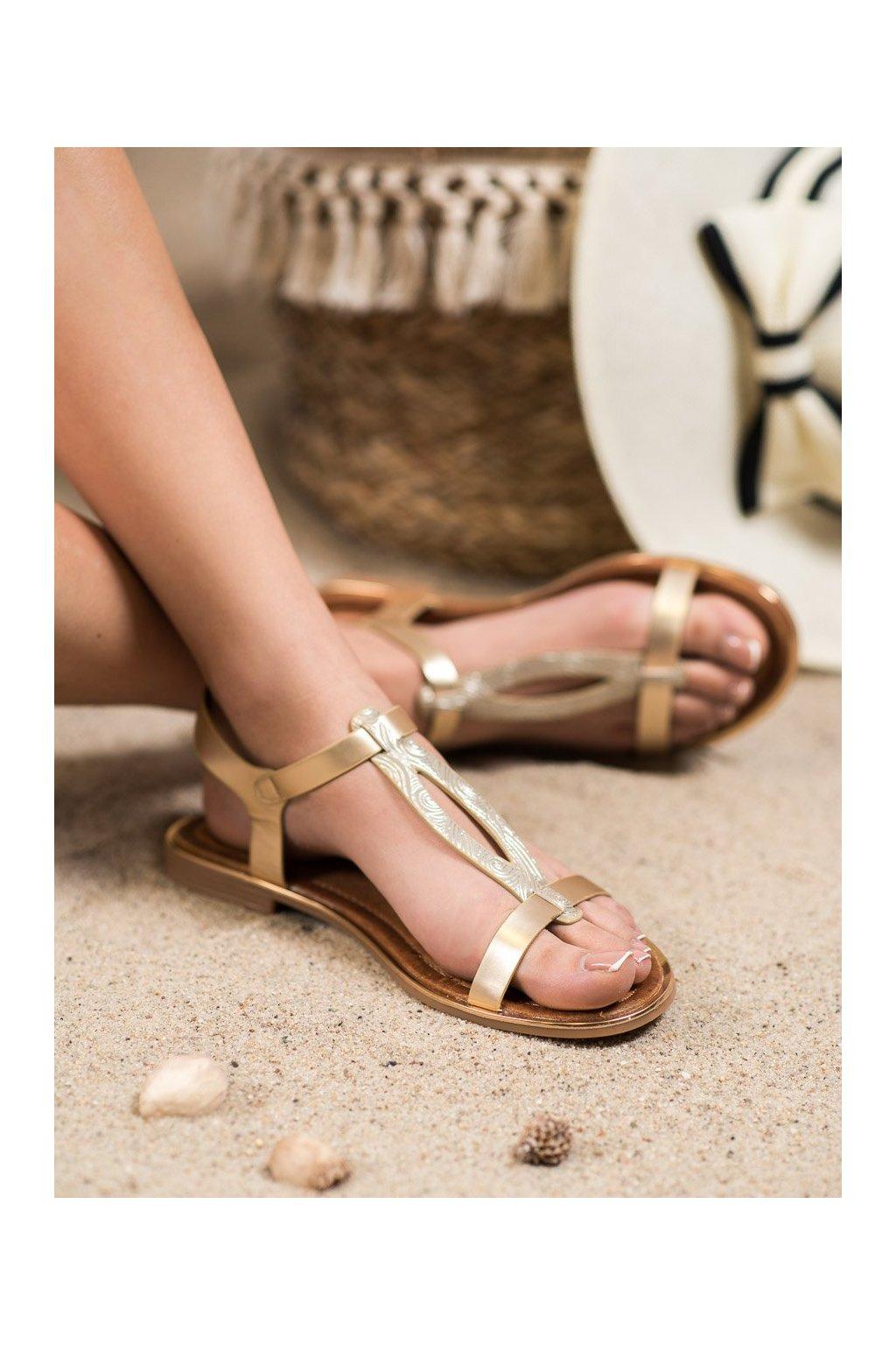 Žlté sandále Small swan kod FJ51GO