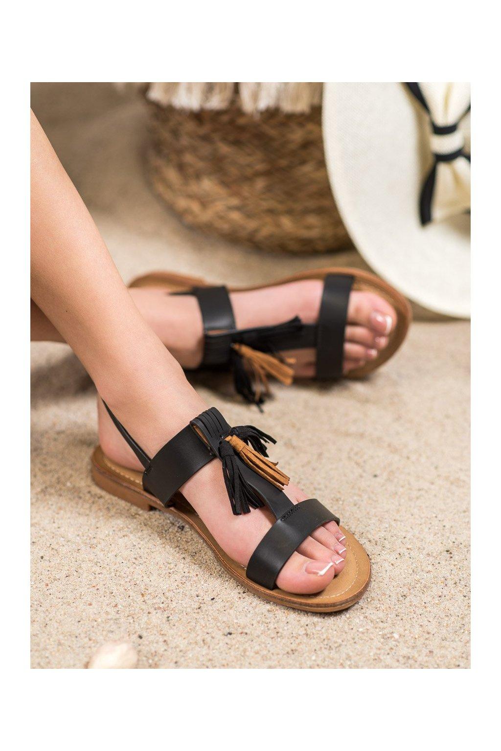 Čierne sandále Small swan kod NF05B