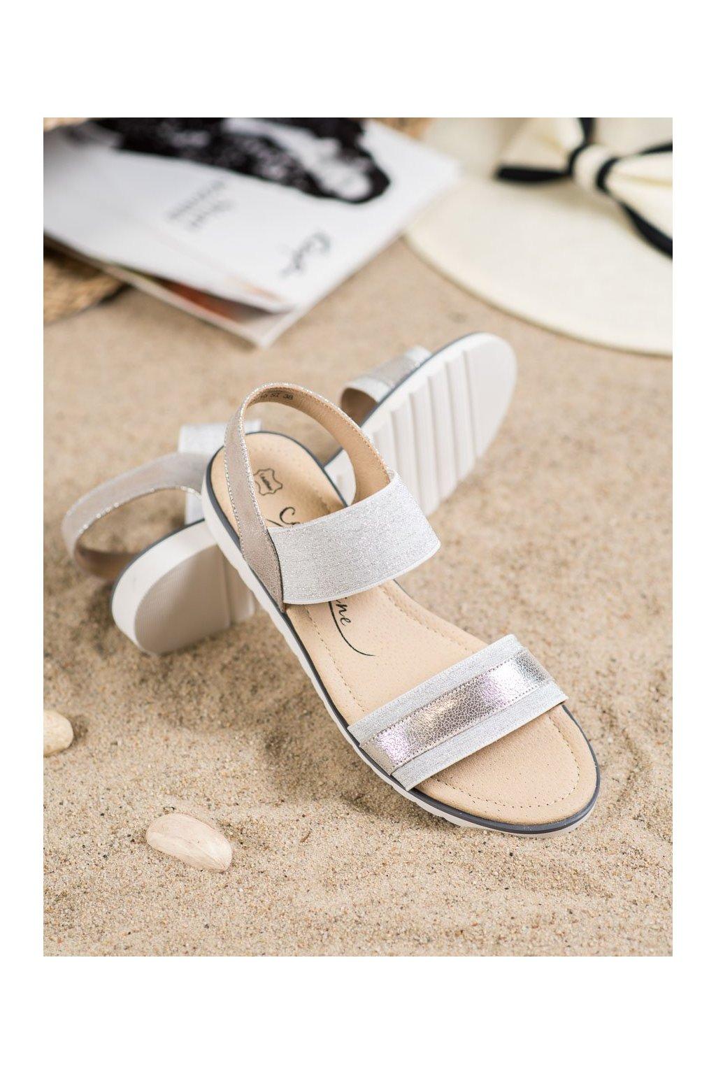 Sivé sandále Filippo kod DS755/19S