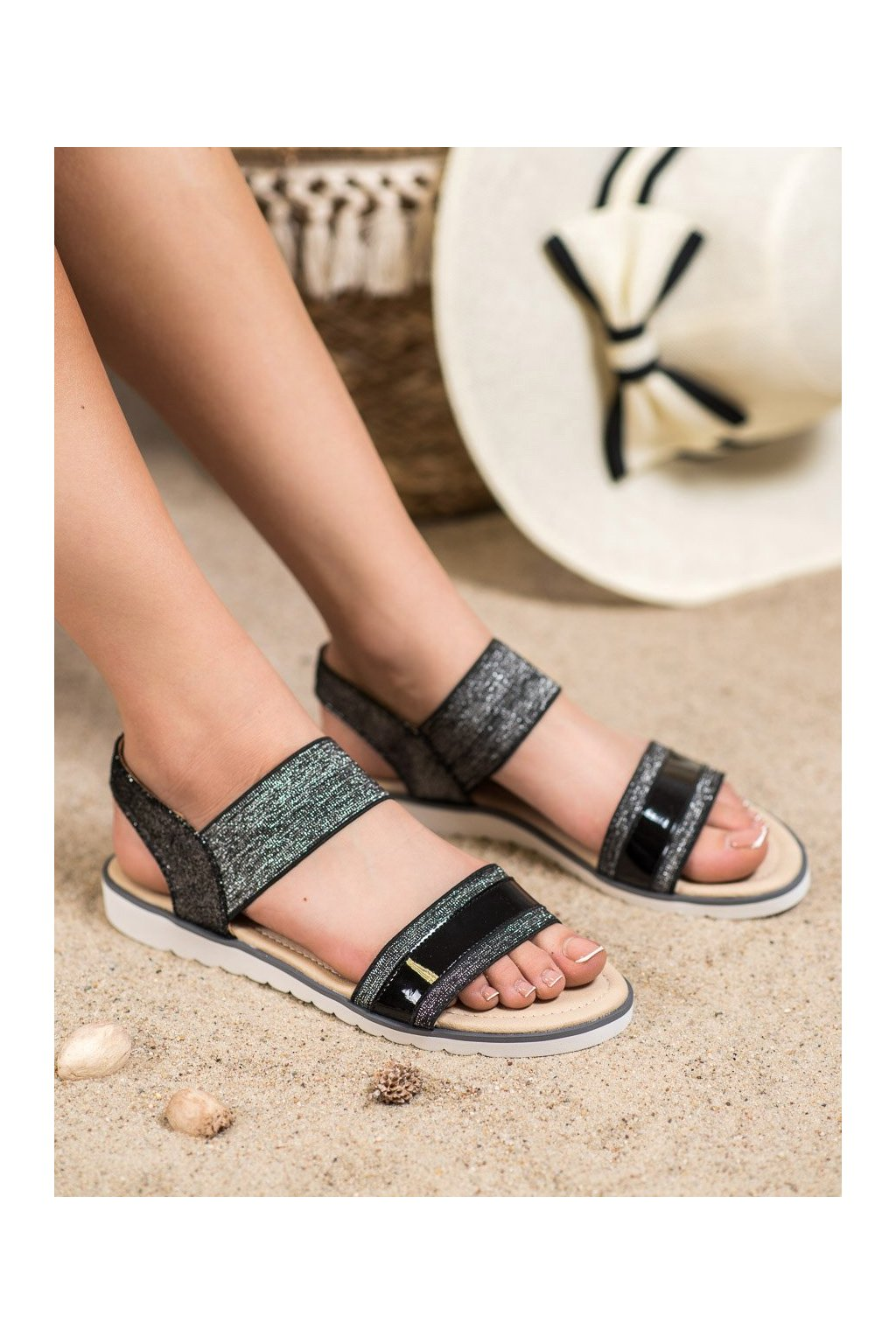 Čierne sandále Filippo kod DS755/19B