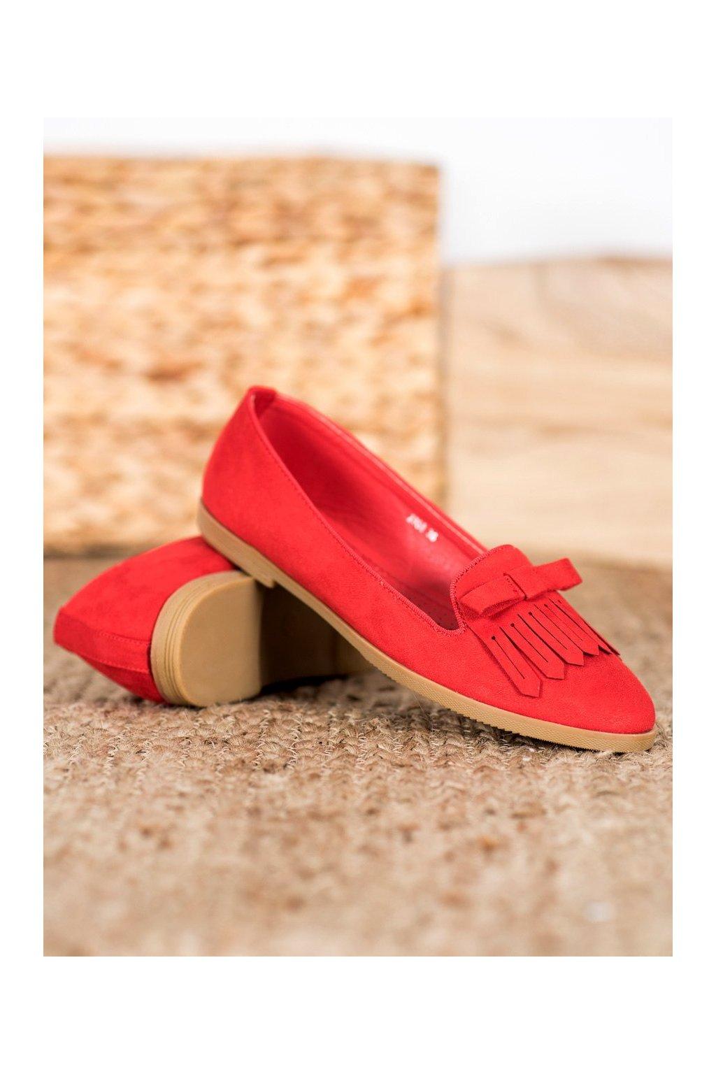 Červené dámske balerínky Coura kod 2358R