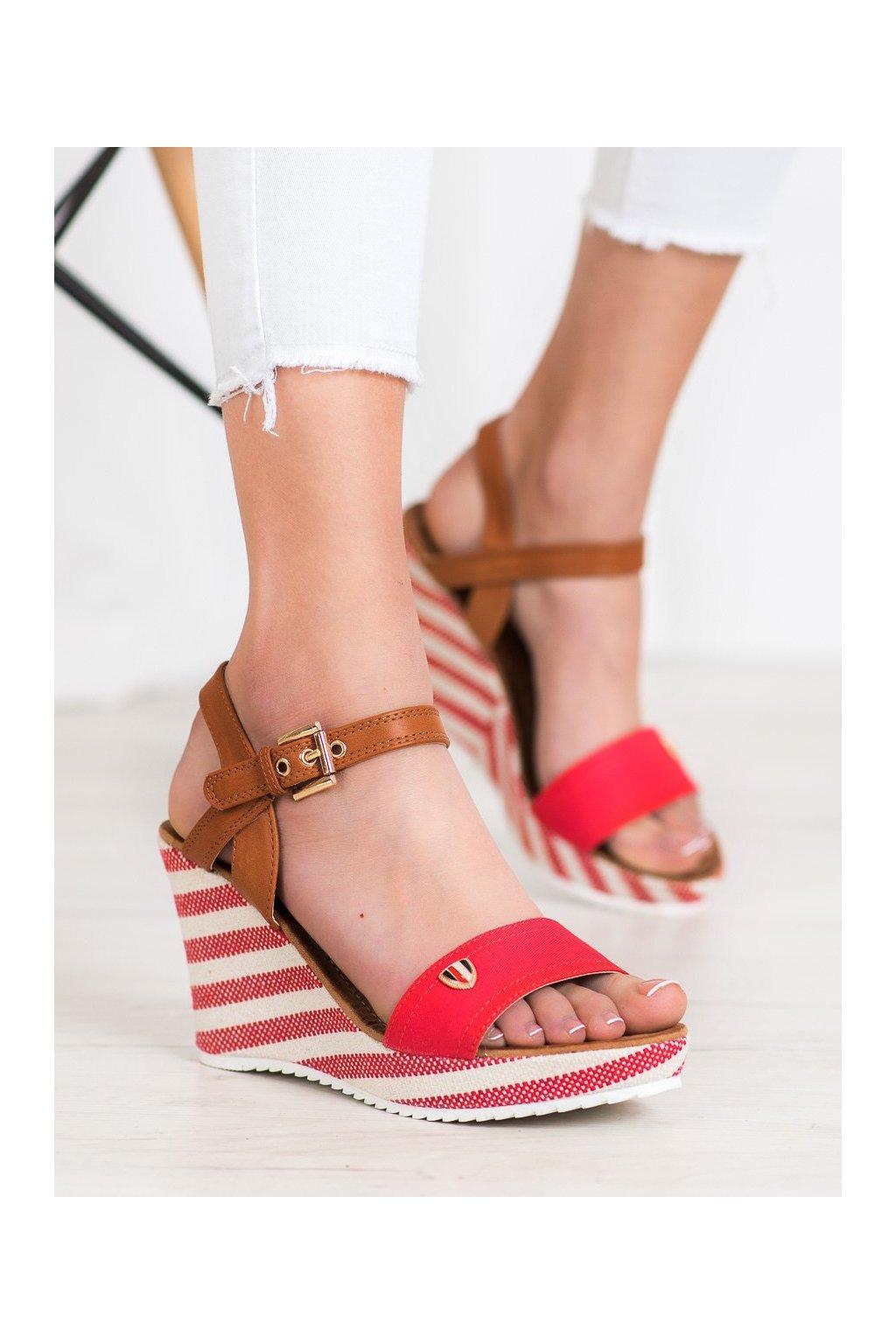 Červené sandále Goodin kod FL145B-R