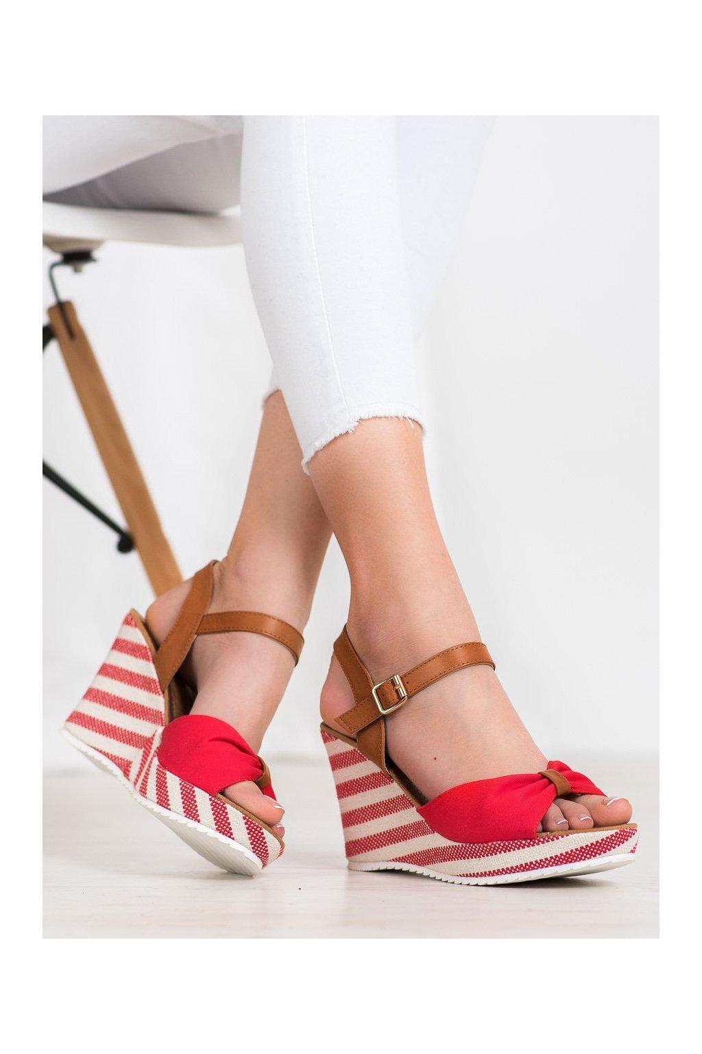 Červené sandále na platforme Goodin kod FL1059R