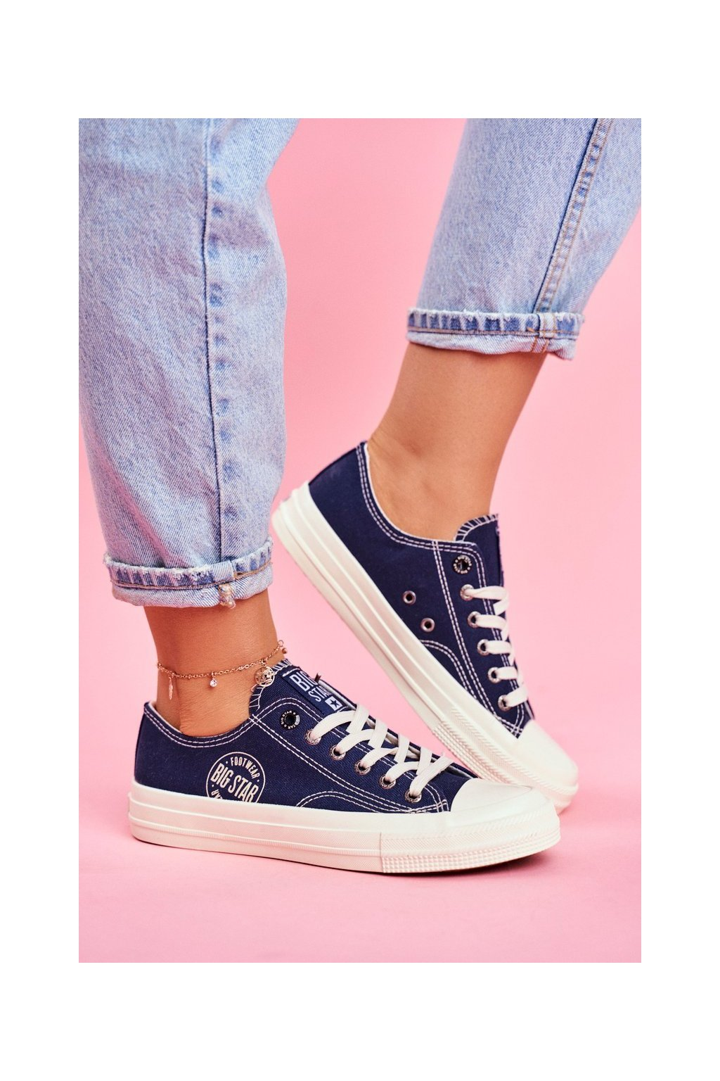 Dámske tenisky farba modrá kód obuvi FF274125 NAVY