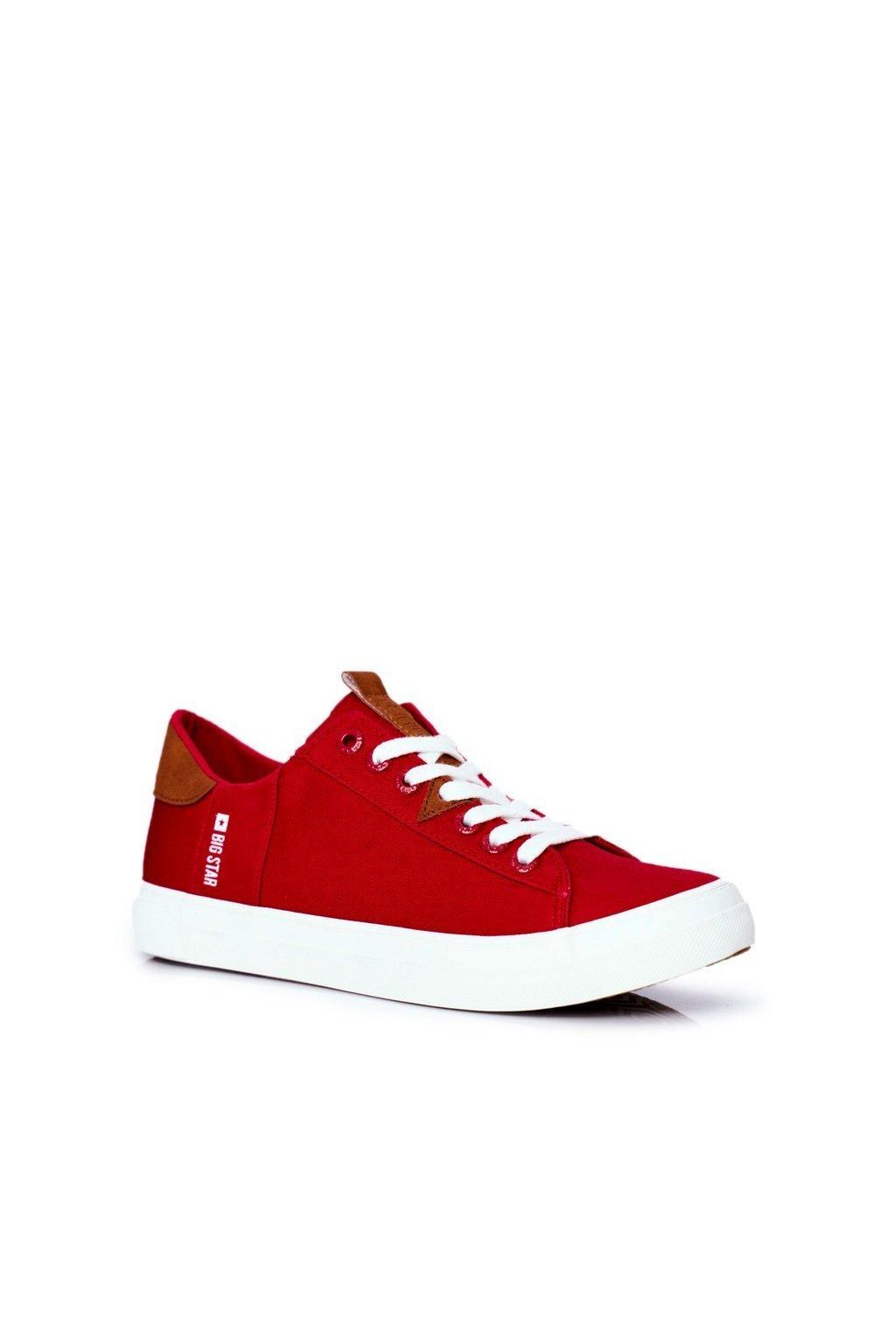 Červená obuv kód topánok FF174315 RED