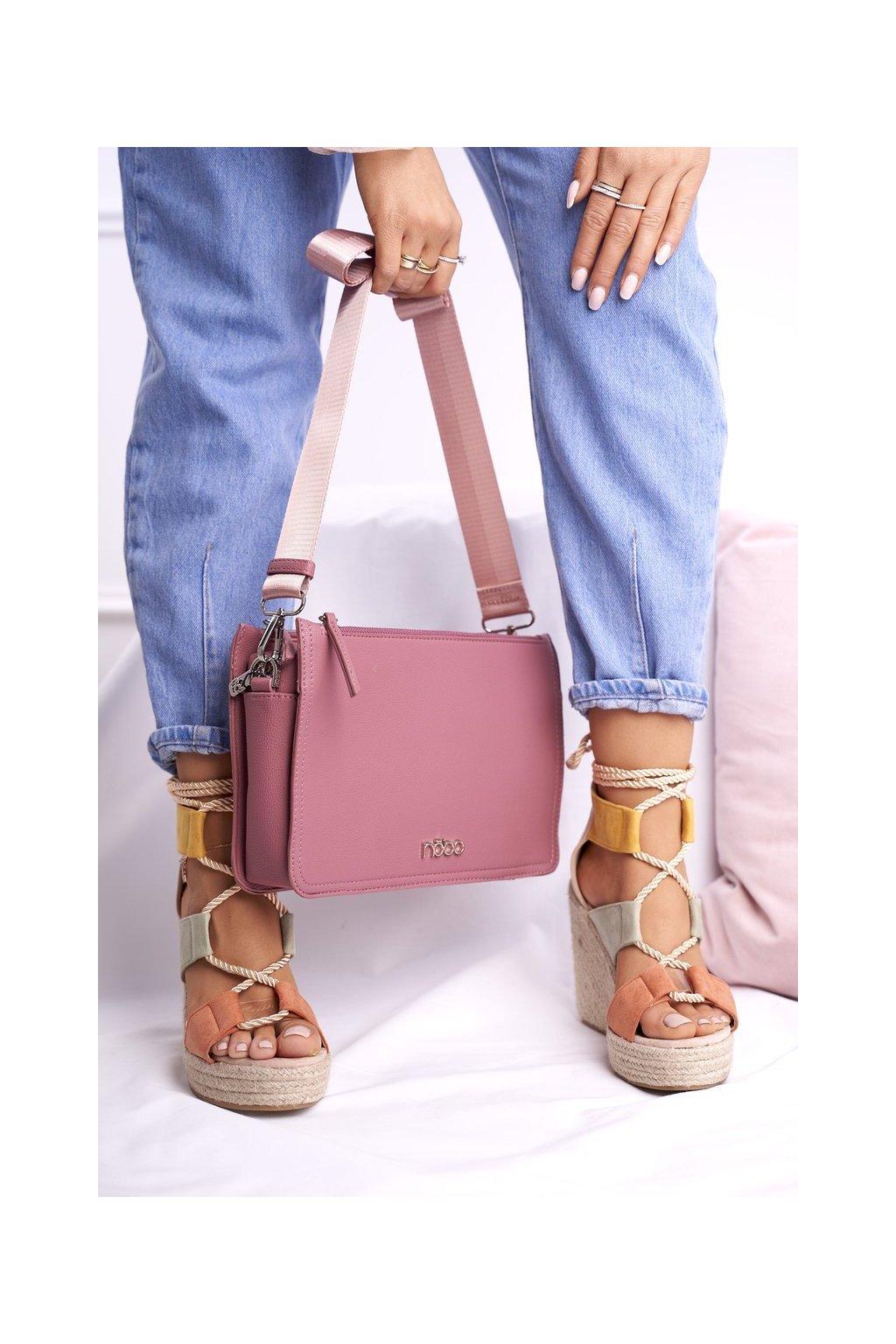 Dámska listová kabelka ružová kód kabelky NBAG-I2670-C004 PINK