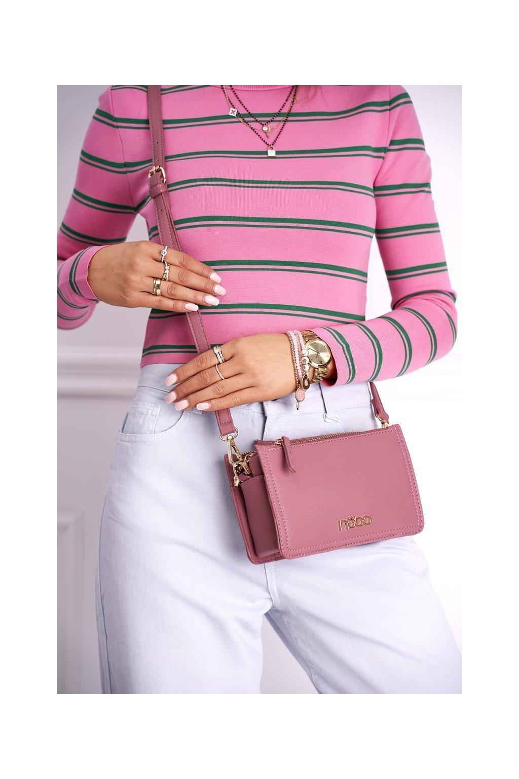 Dámska listová kabelka ružová kód kabelky NBAG-I2680-C004 PINK