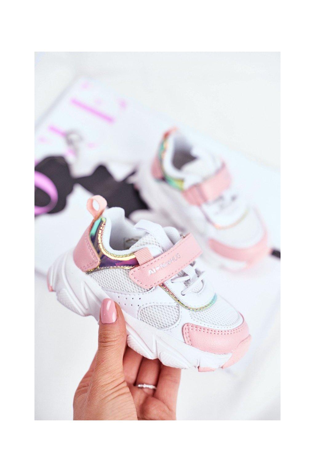Detské tenisky farba ružová kód obuvi B011104349 WHITE/L.PINK