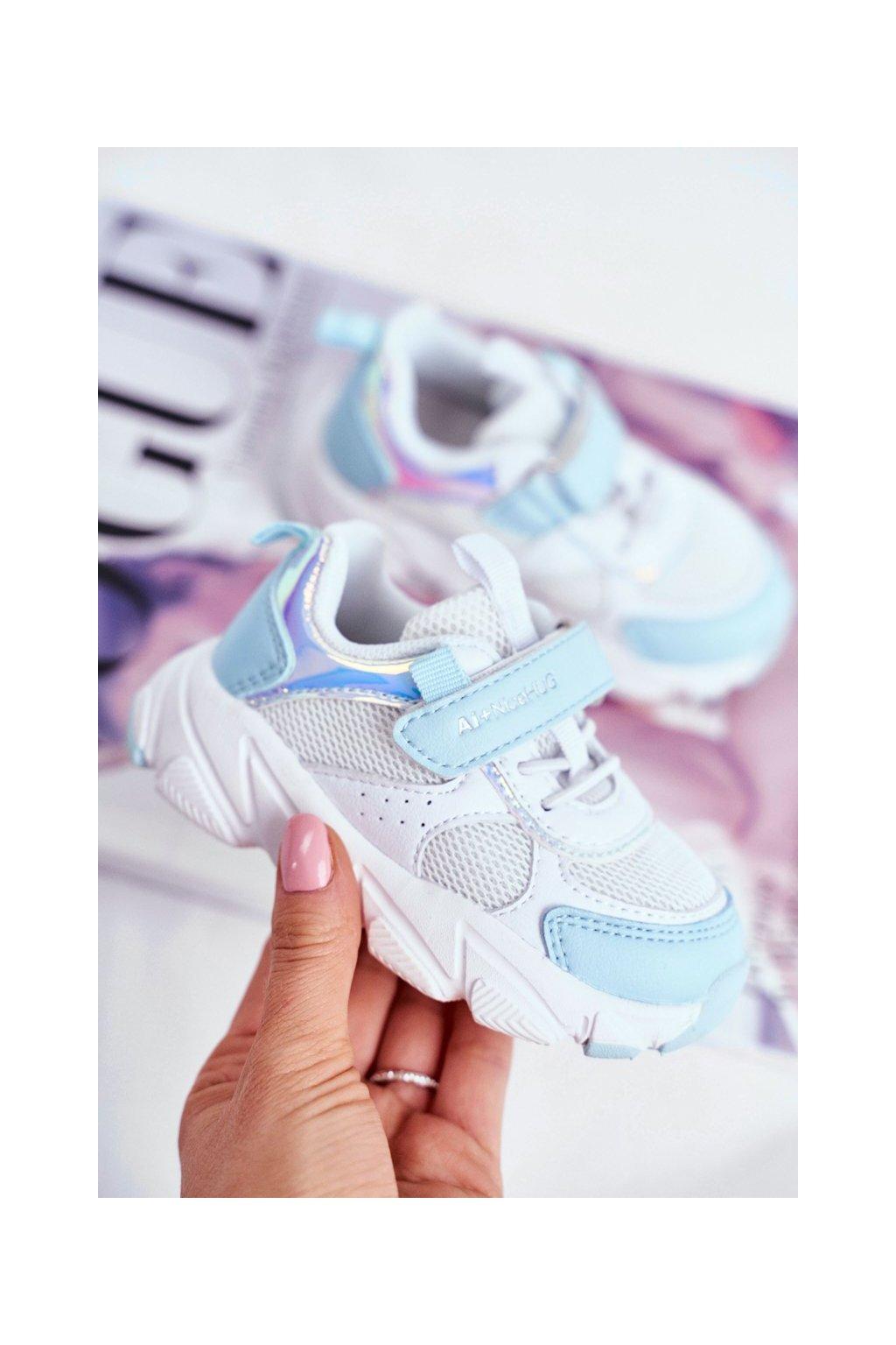 Detské tenisky farba biela kód obuvi B011104349 WHITE/L.BLUE
