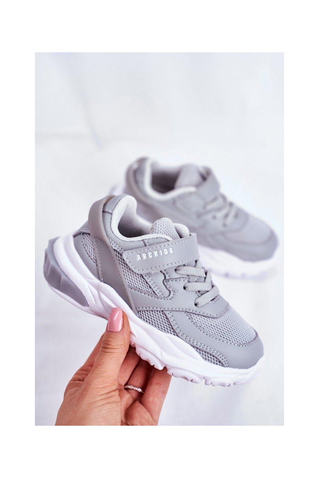 Detské tenisky farba sivá kód obuvi B933204077 GREY