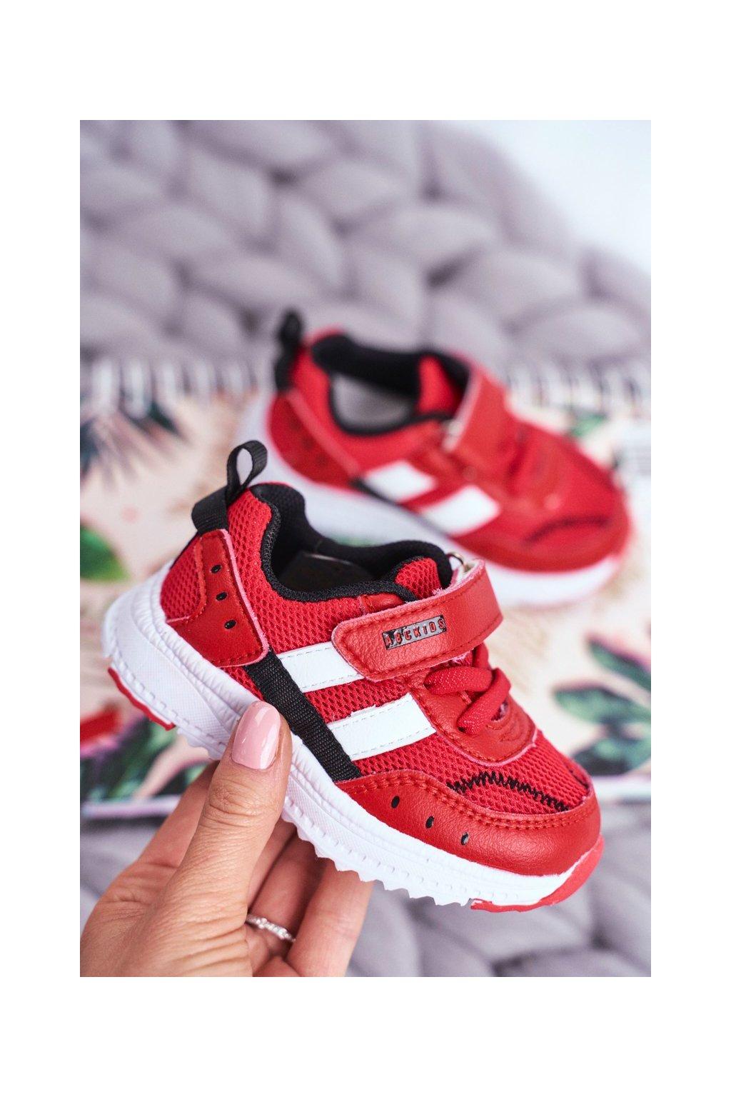 Detské tenisky farba červená kód obuvi B933104083 RED/BLK