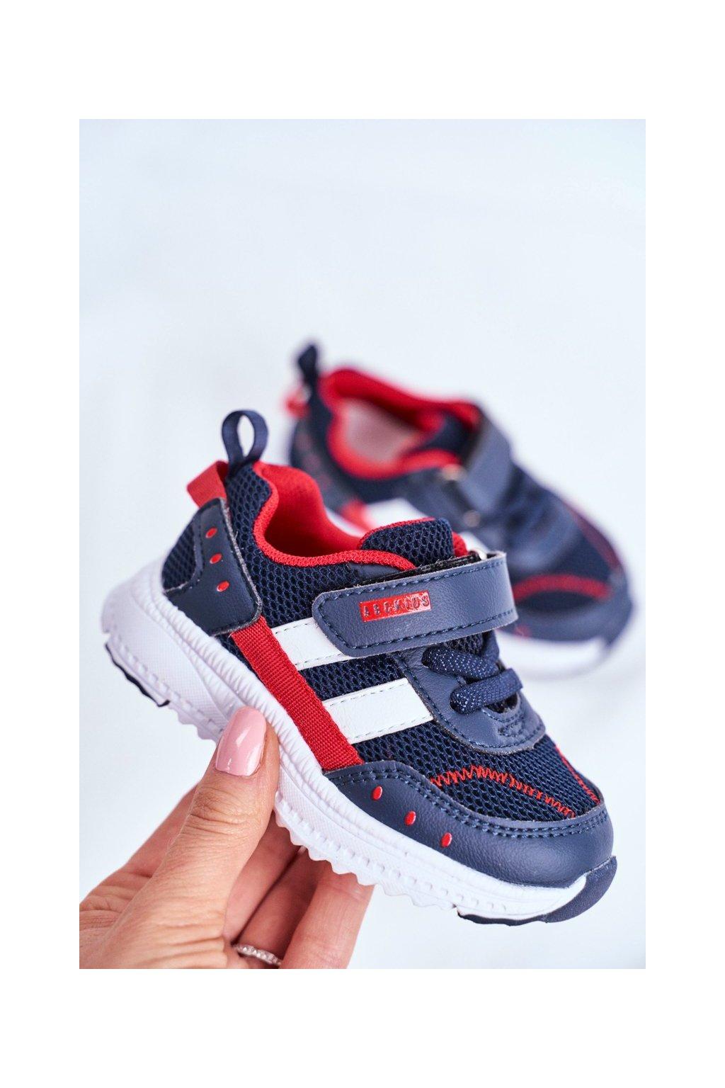 Detské tenisky farba modrá kód obuvi B933104083 NAVY/RED