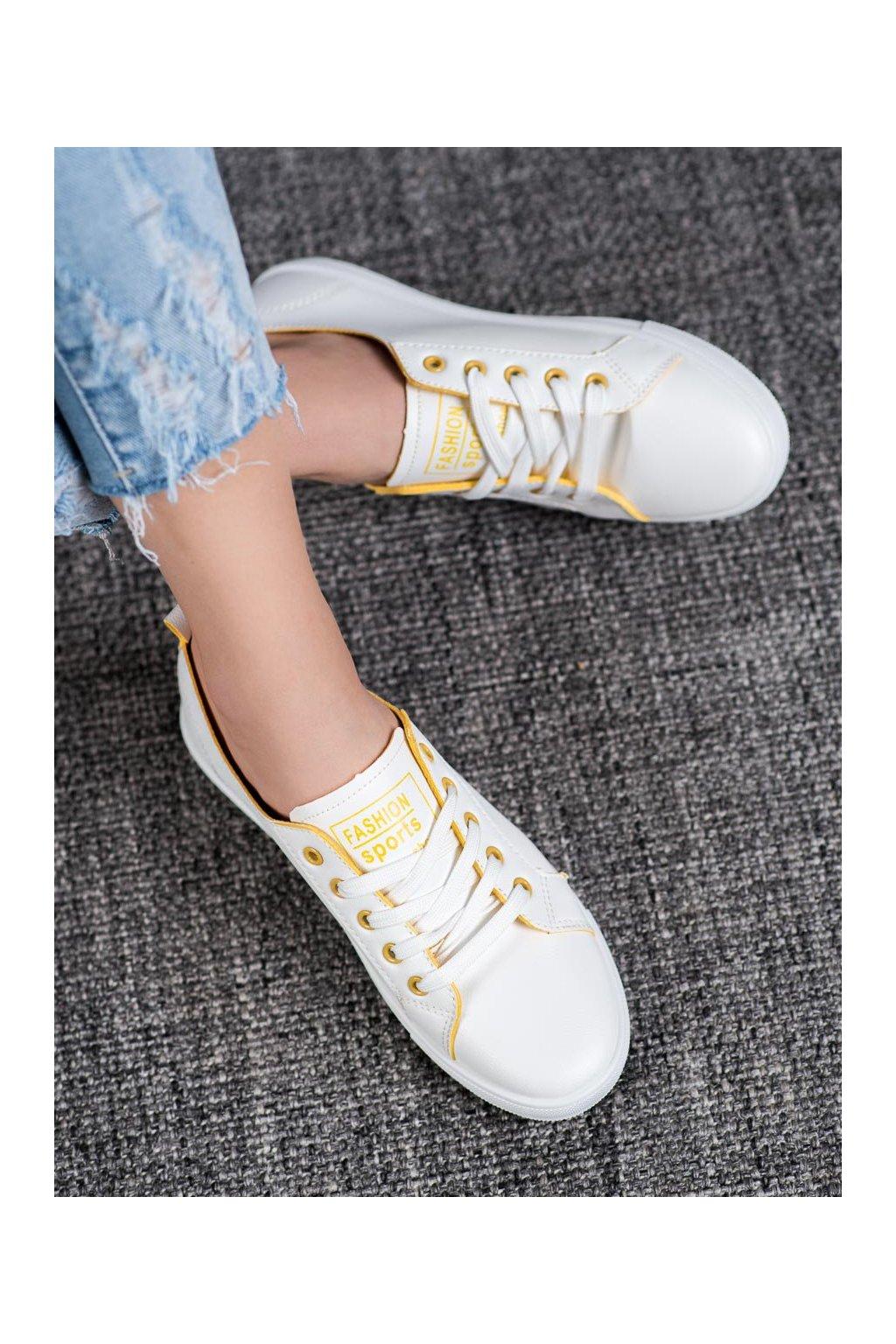 Biele tenisky Ideal shoes kod LX-9859W/Y