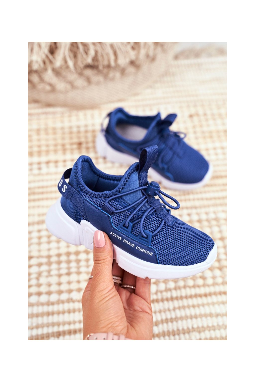 Detské tenisky farba modrá kód obuvi B012210073 NAVY