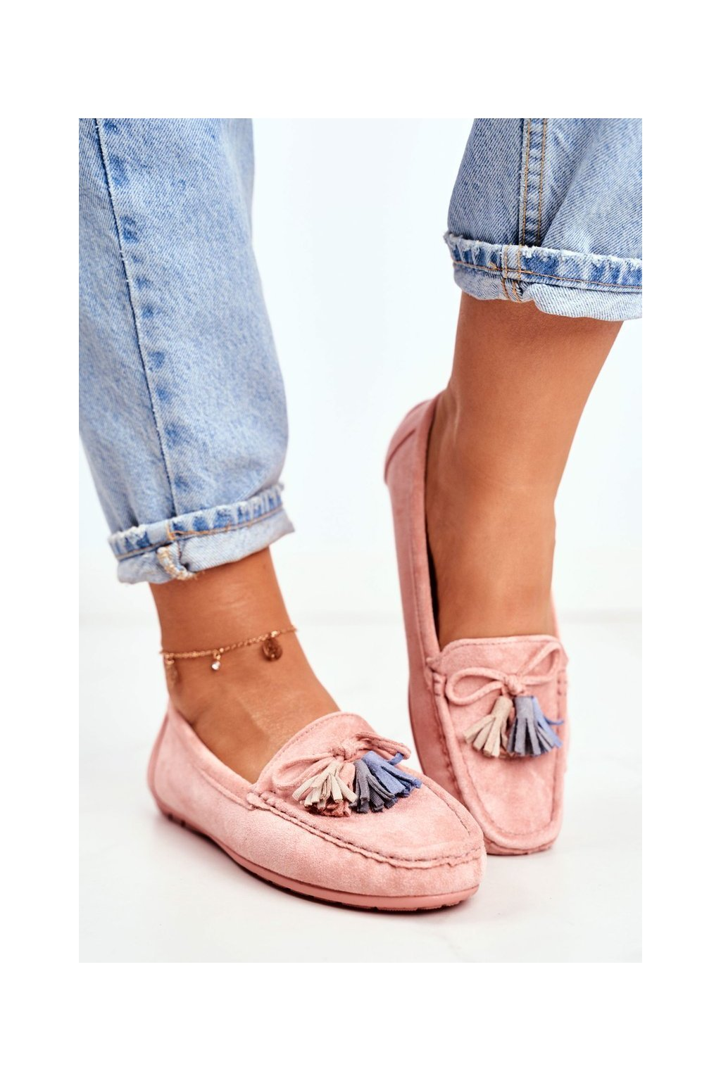 Dámske mokasíny farba ružová kód obuvi 20PB35-2003 PINK