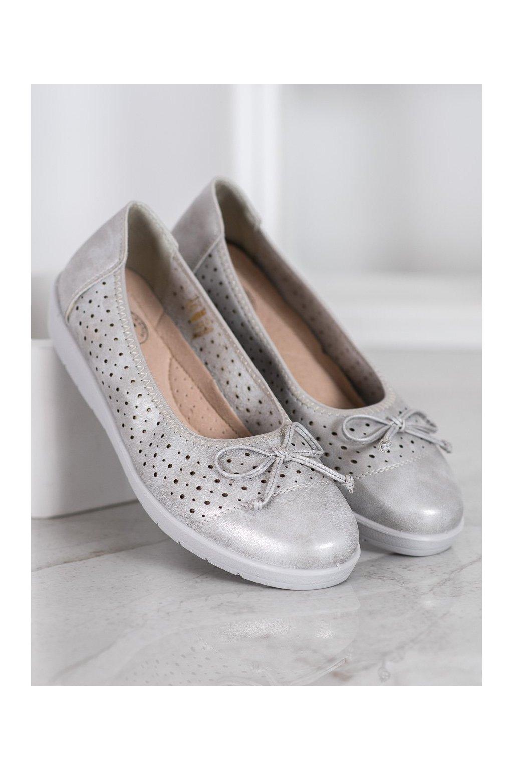 Sivé dámske balerínky Shelovet kod 6069S