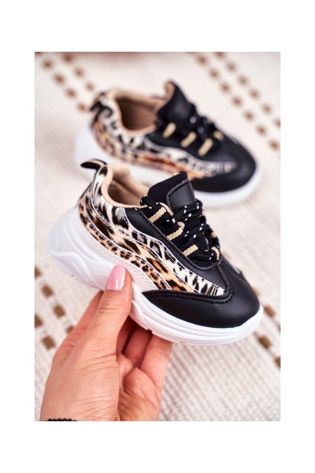 Detské tenisky farba čierna kód obuvi 898 BLK