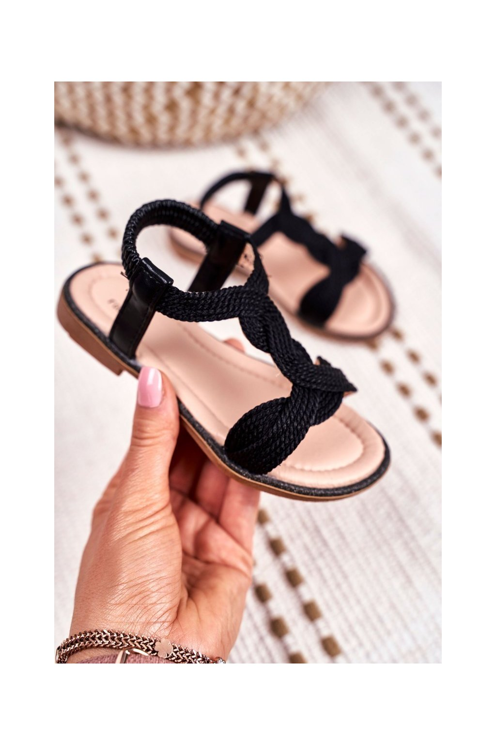 Detské tenisky farba čierna kód obuvi 505 BLK