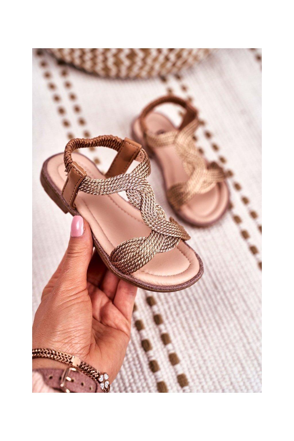 Detské sandále farba ružová kód obuvi 505 CHAMPAGNE