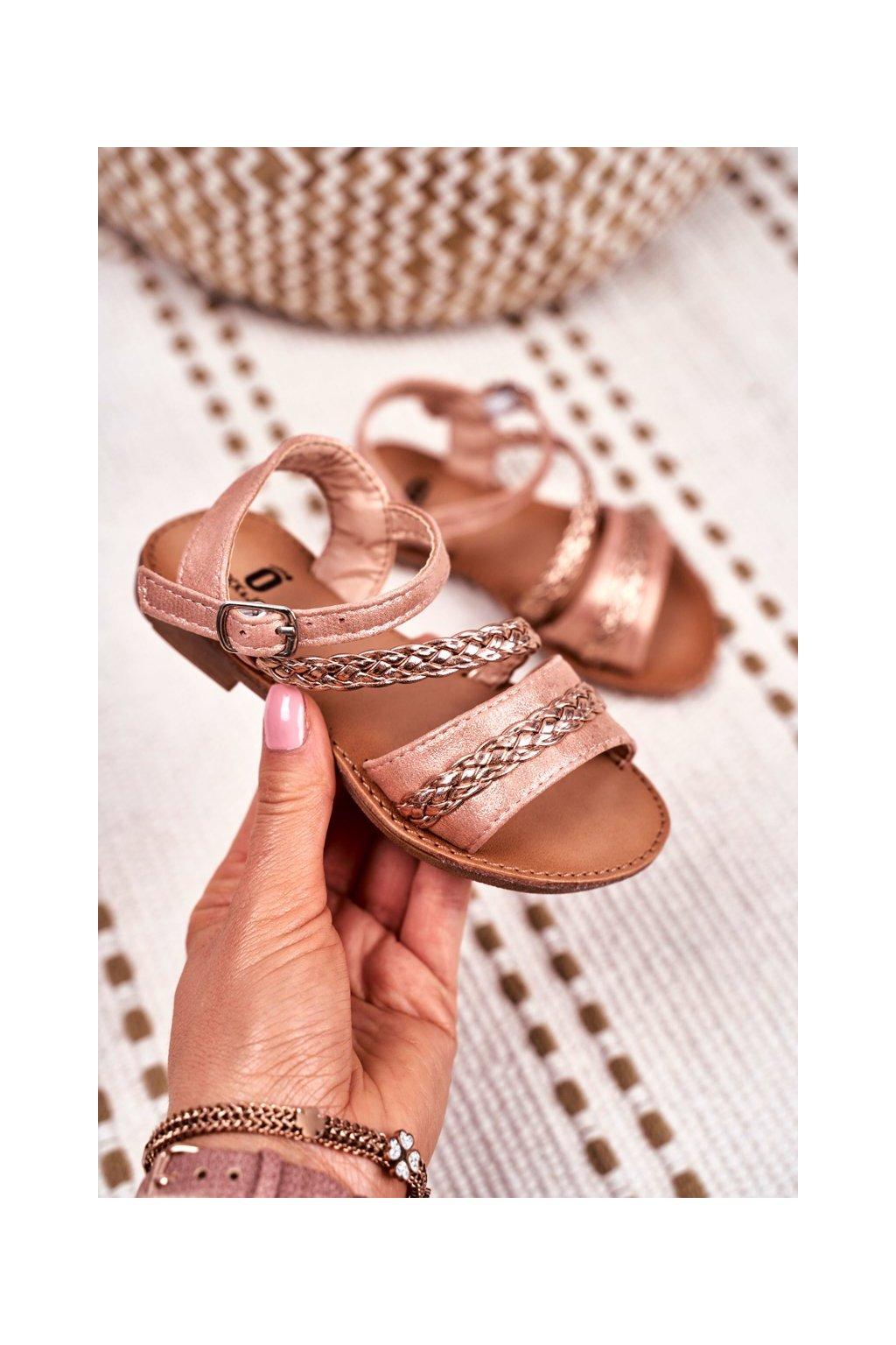 Detské sandále farba ružová kód obuvi 503 CHAMPAGNE