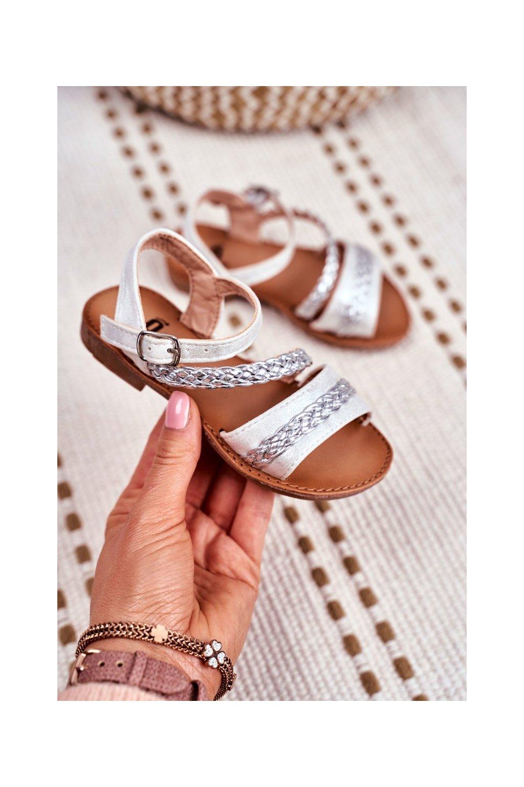 Detské Sandále strieborné Kremo