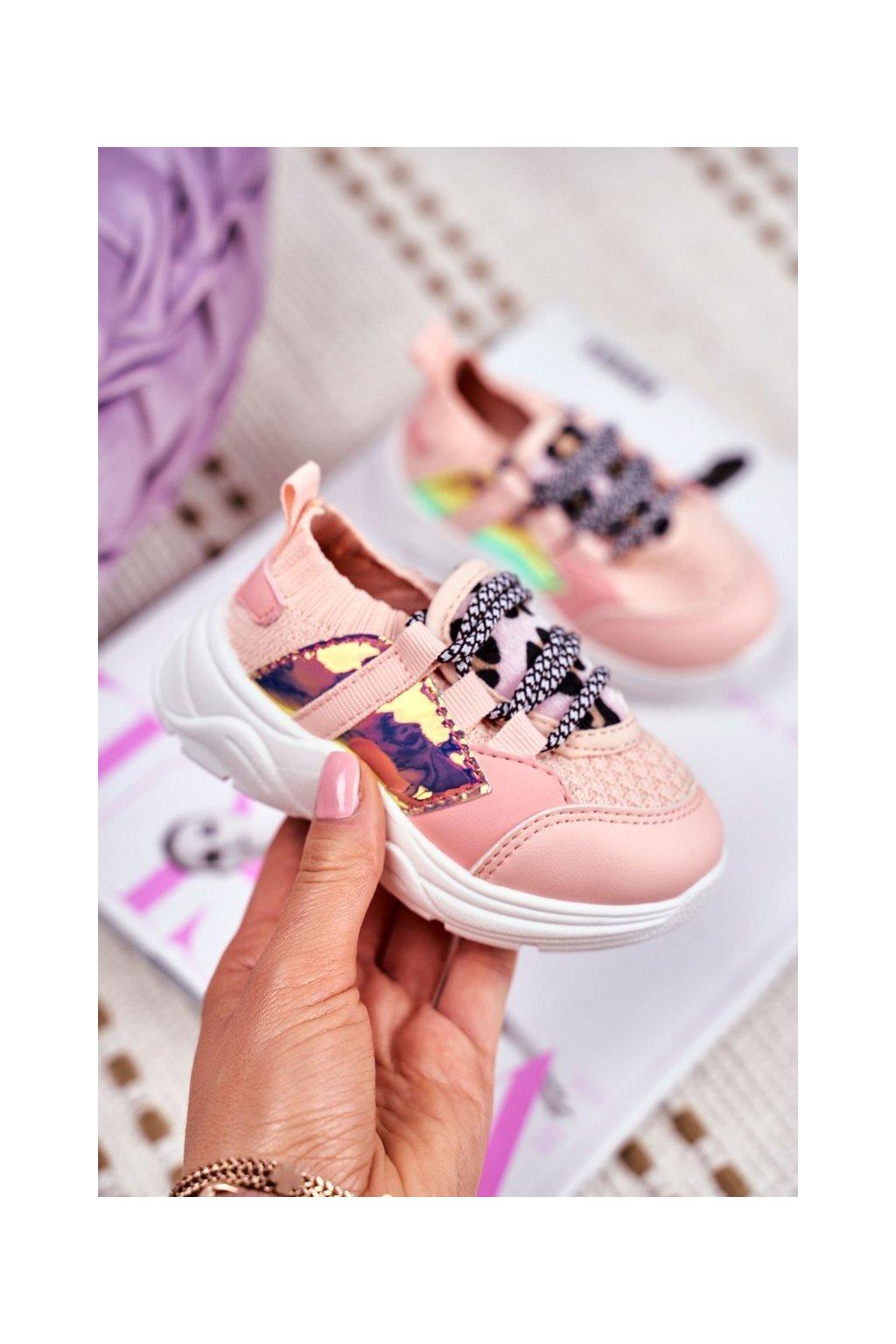 Detské tenisky farba ružová kód obuvi 800 PINK