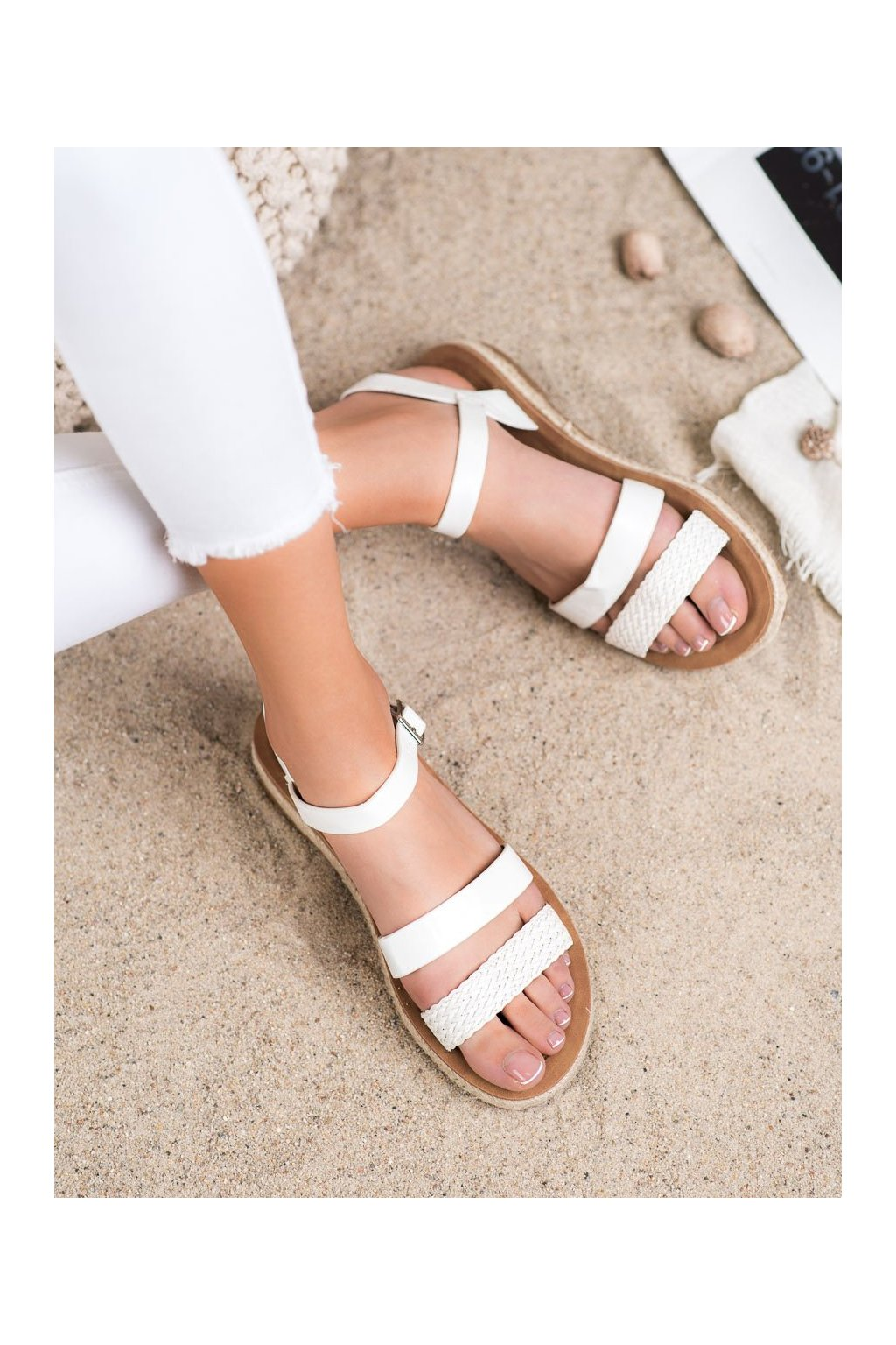 Biele sandále Shelovet kod 712W