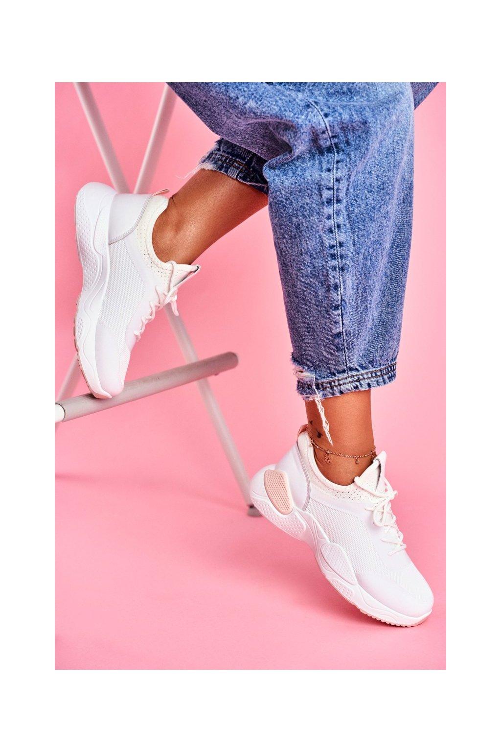 Dámska športová obuv Ružovobiela Fellen kód B0-547