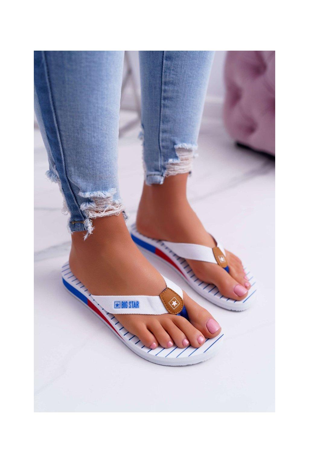 Dámske šľapky farba biela kód obuvi DD274A245 WHITE
