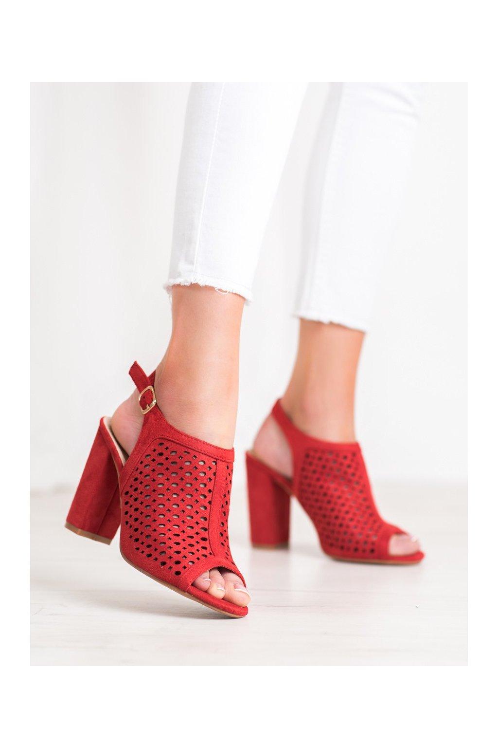 Červené sandále Weide kod Y621R
