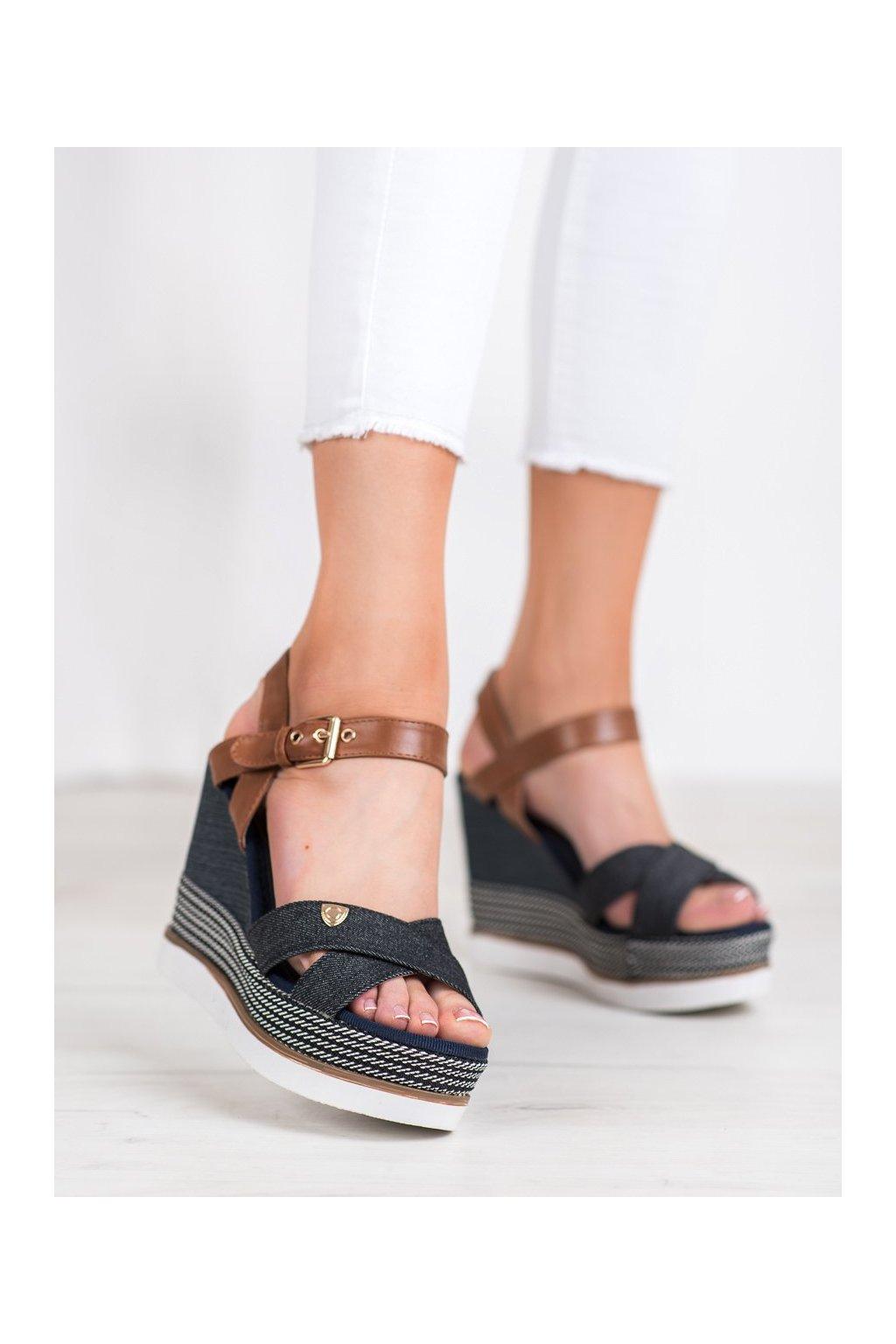 Viacfarebné sandále na platforme Shelovet kod DSHK-3B