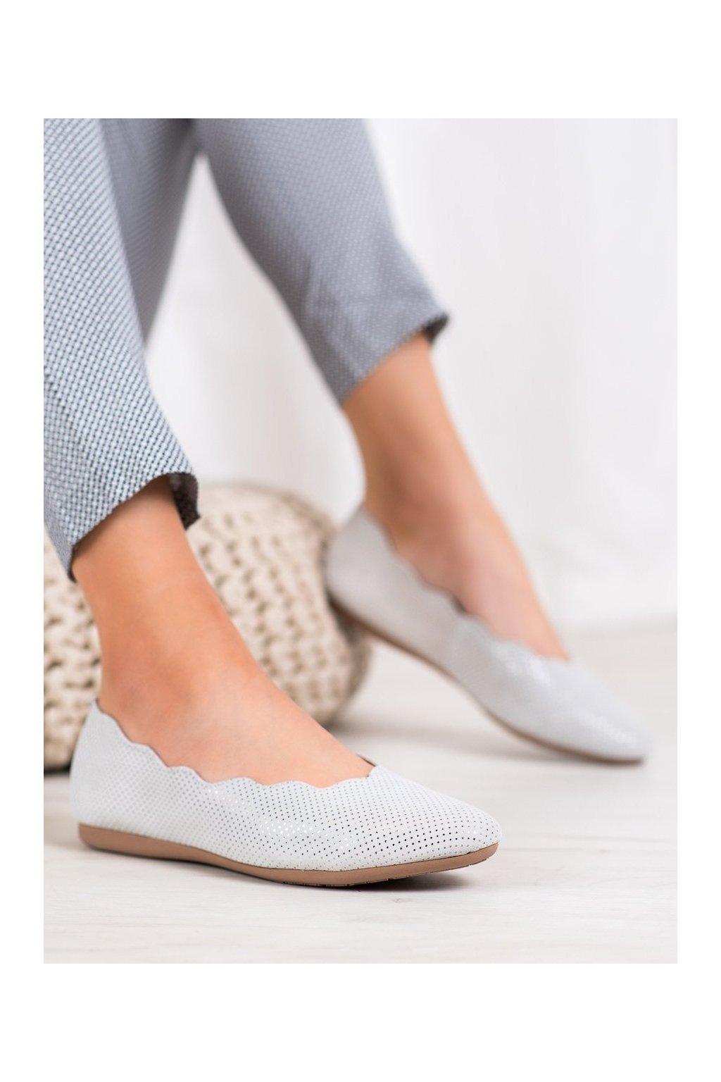 Sivé dámske balerínky Filippo kod DP1260/20S