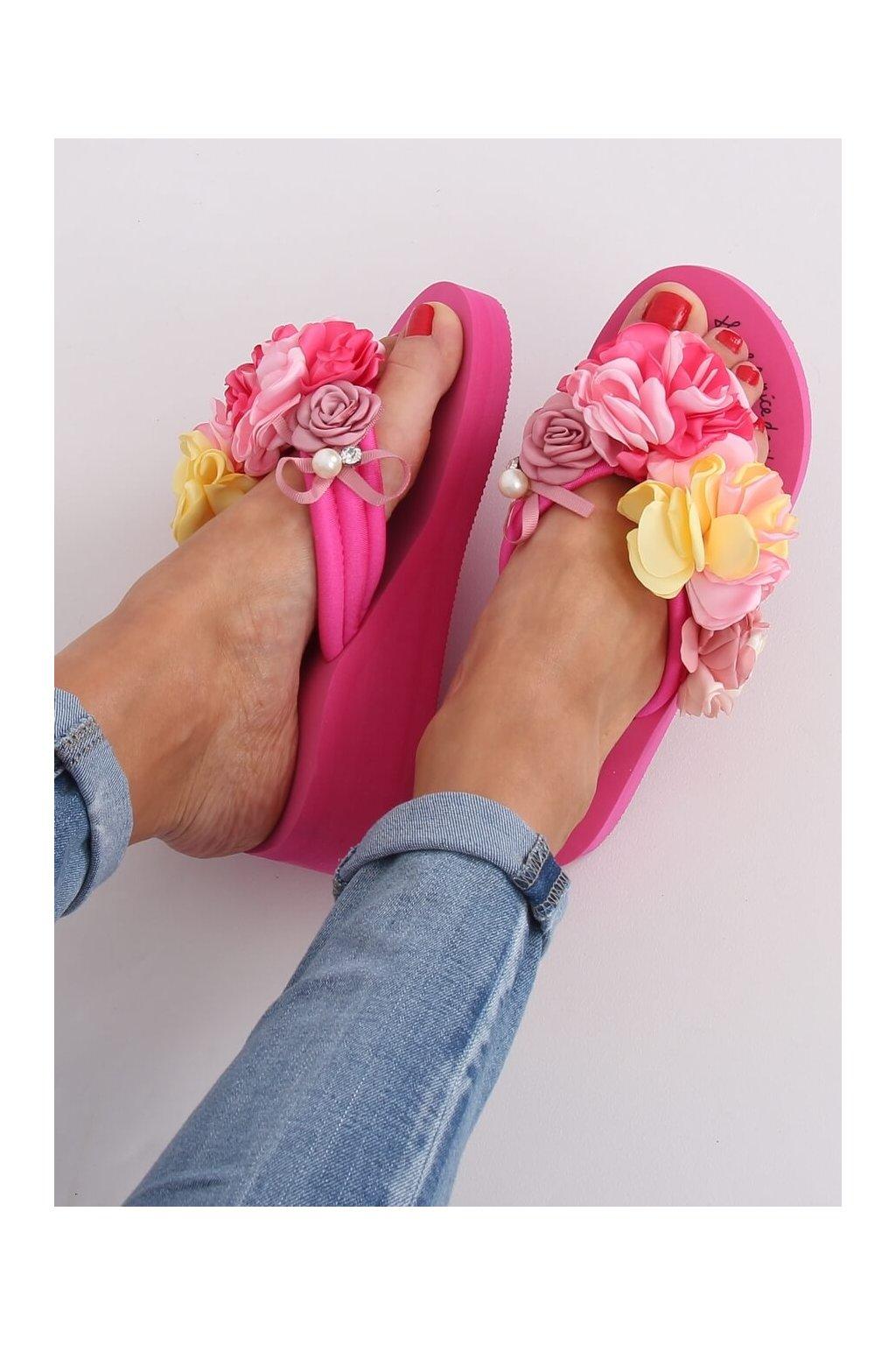 Damske šľapky ružové N-31