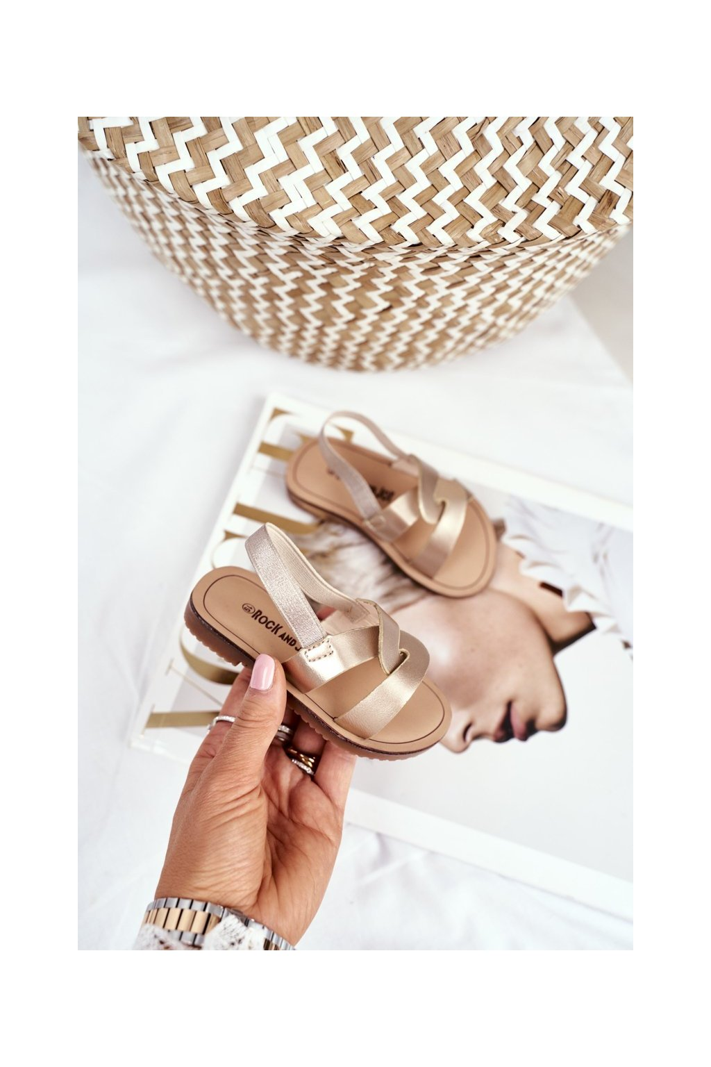 Detské sandále farba žltá kód obuvi 269-C GOLD