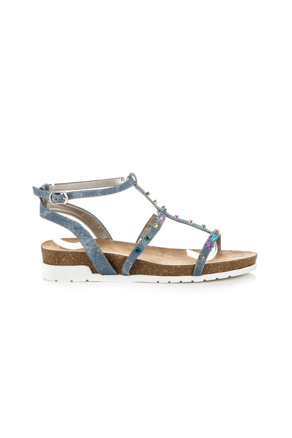 Modré sandále na platforme Kylie NJSK K1717302JE